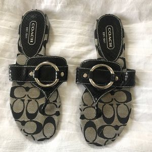 Coach signature black sandal